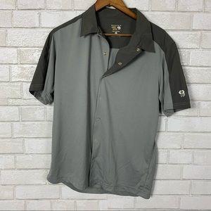 Mountain hardwear snap button polo short sleeve